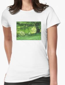 Casually Green Womens Fitted T-Shirt