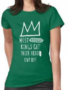 """Basquiat """"Young Kings"""" Quote Womens Fitted T-Shirt"""