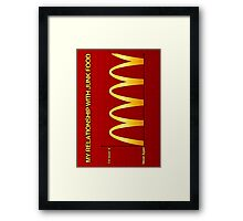 My Relationship With Junk Food Graph Framed Print