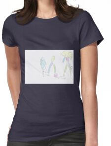 Colourful world in white forest Womens Fitted T-Shirt