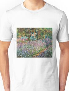 Claude Monet - Irises In Monet S Garden  Unisex T-Shirt