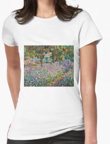Claude Monet - Irises In Monet S Garden  Womens Fitted T-Shirt
