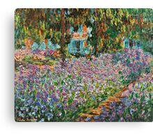 Claude Monet - Irises In Monet S Garden  Canvas Print