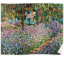 Claude Monet - Irises In Monet S Garden  Poster