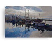 Newport Harbor, Newport Oregon Canvas Print