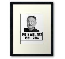 Robin Williams (1951 - 2014) Framed Print