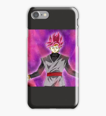 Black goku super sayan rose iPhone Case/Skin