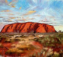Uluru -   Australia's heart by nikkiidaniels