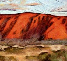 Uluru -   Australia's heart Sticker