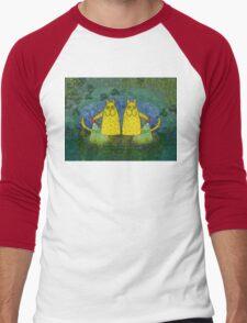 AMERICAN CATS WITH FLASHLIGHTS Men's Baseball ¾ T-Shirt