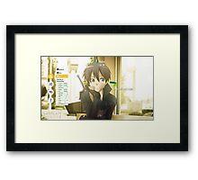 Sword Art Online Kirito Framed Print