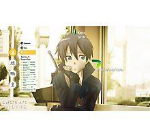 Sword Art Online Kirito Photographic Print