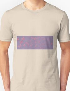 female silhouette with butterlies in lilac and pink Unisex T-Shirt