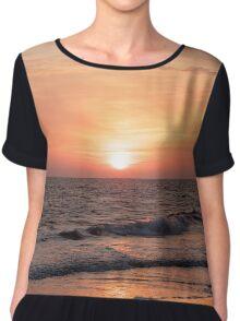 Sunset at the Beach Chiffon Top