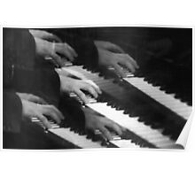 5 hands on piano Poster