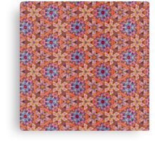 Orange Kaleidoscope Pattern Canvas Print