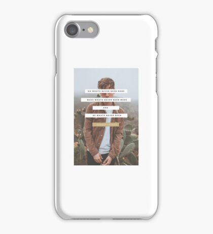Connor Franta- Be What's Never Been  iPhone Case/Skin