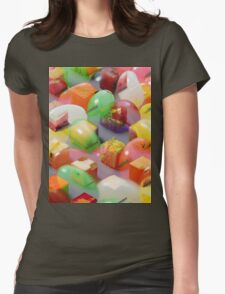 Psychedilc Jelly bean thing Womens Fitted T-Shirt
