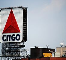 Famous Citgo Landmark Sign, Boston MA by Rebecca Bryson