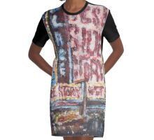West Side Graphic T-Shirt Dress