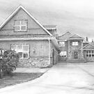 montana house drawing by Mike Theuer