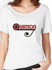 Ovation Guitars Music Note WBR  Women's Relaxed Fit T-Shirt