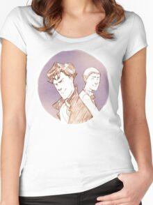 Teen Sherlock  Women's Fitted Scoop T-Shirt
