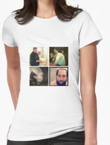 Many faces Womens Fitted T-Shirt