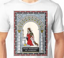 ST MARGARET OF HUNGARY under STAINED GLASS Unisex T-Shirt