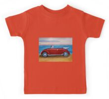 red VW bug with sea Kids Tee