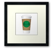 Confused Coffee Cup Framed Print