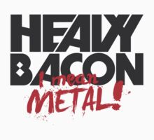Heavy (Metal) Bacon Kids Clothes
