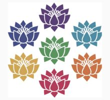 Lotus chakra,the chakra system,root,red,sacral,orange,solar,yellow, One Piece - Short Sleeve