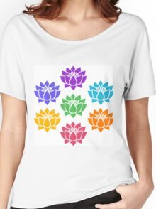Lotus chakra,the chakra system,root,red,sacral,orange,solar,yellow, Women's Relaxed Fit T-Shirt