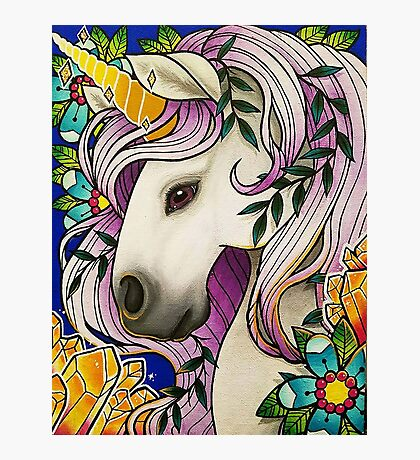 Magical Unicorn Photographic Print