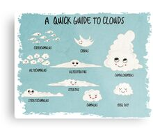 A Quick Guide to Clouds Metal Print