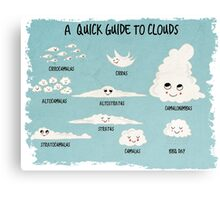 A Quick Guide to Clouds Canvas Print