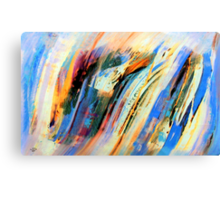 Abstract Oil On Paper Canvas Print