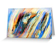 Abstract Oil On Paper Greeting Card