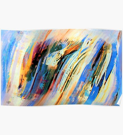 Abstract Oil On Paper Poster