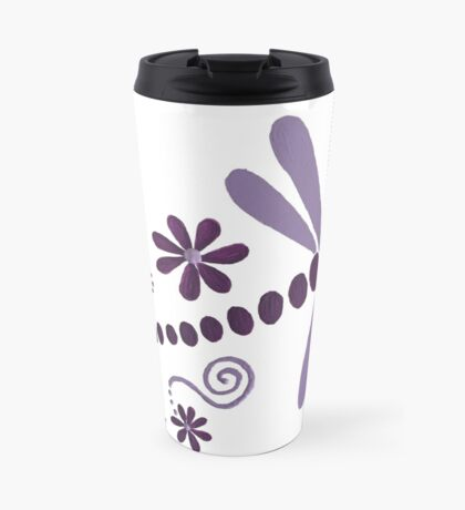 DRAGONFLY DANCE PURPLE Travel Mug