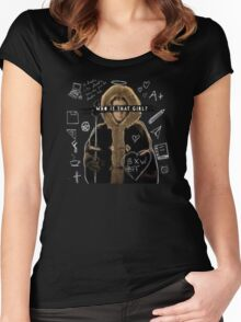Who is that girl? Women's Fitted Scoop T-Shirt
