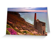 Old mining chimney stack Greeting Card