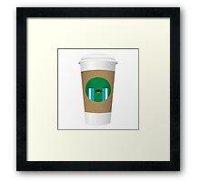 Emotional Coffee Cup Framed Print