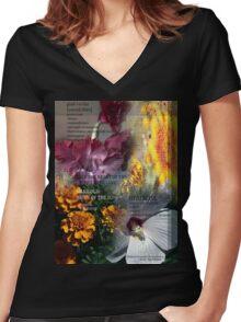 Mothers Garden Women's Fitted V-Neck T-Shirt