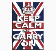 Keep Calm & Carry On. Union Jack. Be British! by TOM HILL - Designer