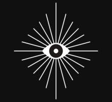 Kaleidoscope Eyes - Black and White One Piece - Short Sleeve