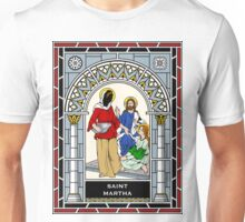 ST MARTHA under STAINED GLASS Unisex T-Shirt