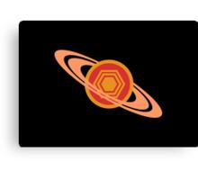 Saturn's Hexagon Canvas Print