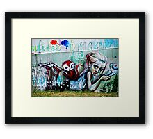 What is wrong with you mankind? Framed Print